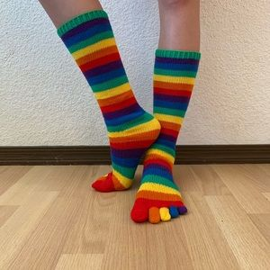 Rainbow Pride Toe Socks
